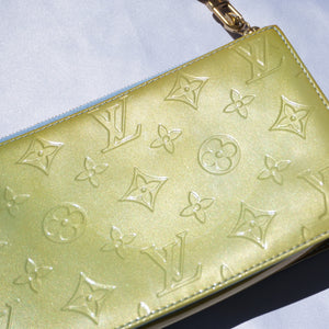 Vintage Louis Vuitton Green Vernis Pochette