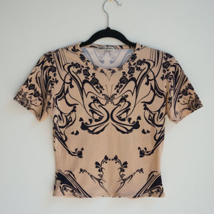 Vintage Issey Miyake Tattoo + Butterfly Print T-shirt