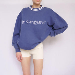 90s Yves Saint Laurent Embroidered Sweatshirt