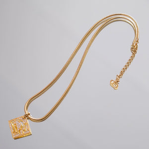 Christian Dior Jewelled Logo Necklace