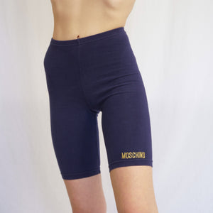 Vintage Moschino Logo Embroidered Bike Shorts