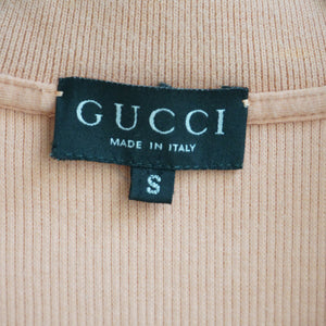 80s Gucci Ribbed Cotton Crop