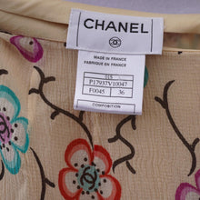 Load image into Gallery viewer, Vintage Chanel Silk Floral Skirt