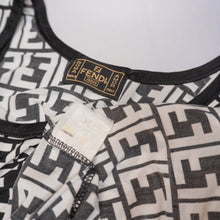 Load image into Gallery viewer, Vintage Fendi Zucca Print B&W Dress