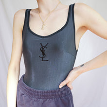 Load image into Gallery viewer, 90s Yves Saint Laurent Swimsuit With Logo Embroidery