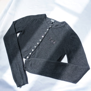 Vintage Dolce & Gabbana Cropped Knit Cardigan Top