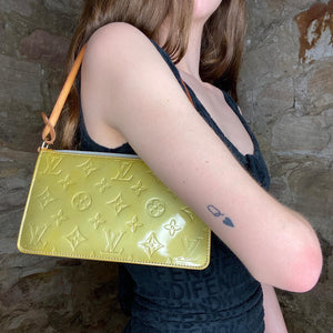 Vintage Louis Vuitton Metallic Green Vernis Pochette