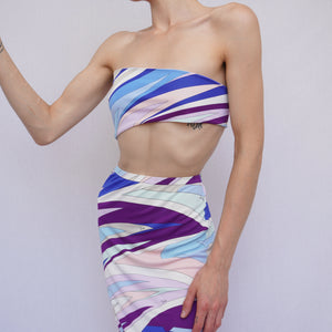 Emilio Pucci Resort Skirt + Tie Top Co-Ord
