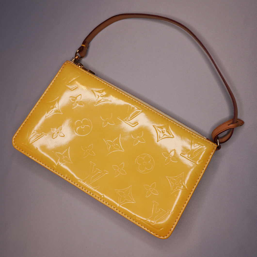 Rare Vintage Louis Vuitton Yellow Vernis Pochette