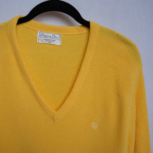Vintage Christian Dior Embroidered Knit Sweater