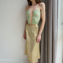 Load image into Gallery viewer, Vivienne Westwood 90s Champagne Midi Skirt