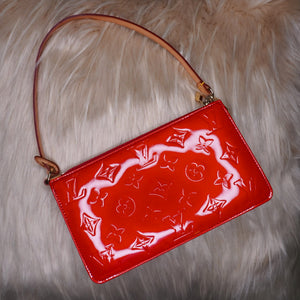 Rare Vintage Louis Vuitton Red Vernis Pochette