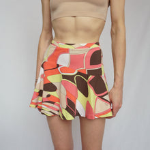 Load image into Gallery viewer, Emilio Pucci Green and Pink Mini Skirt