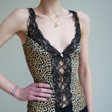Load image into Gallery viewer, 90s D & G Leopard Print Lace Cami