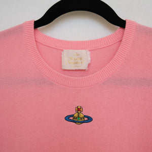 Rare Vivienne Westwood Pink Gold Label Cropped Knit