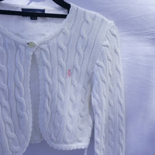 Load image into Gallery viewer, 90s Cable Knit Polo Ralph Lauren Bolero/Cardigan