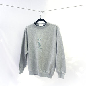 90s Yves Saint Laurent Homme Logo Embroidered Sweatshirt