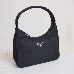 Prada Nylon Mini Bag With Ribbon Repaired Strap