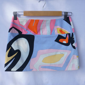 90s Pucci Abstract Mini Skirt