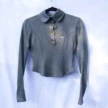 Load image into Gallery viewer, 90s Vivienne Westwood Silver Lurex Long Sleeve