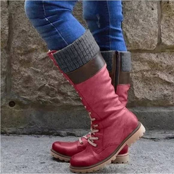 Women's British Boots Warm Mid-calf Boots