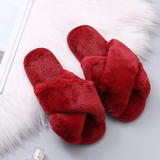 Furry Female Open Toe Slides Fashion Shoes