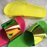 Summer Woman Flat Slippers Candy Color Jelly Shoe