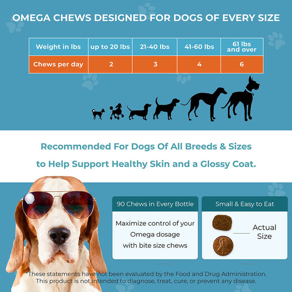 Load image into Gallery viewer, Omega Skin & Coat Chews for Dogs