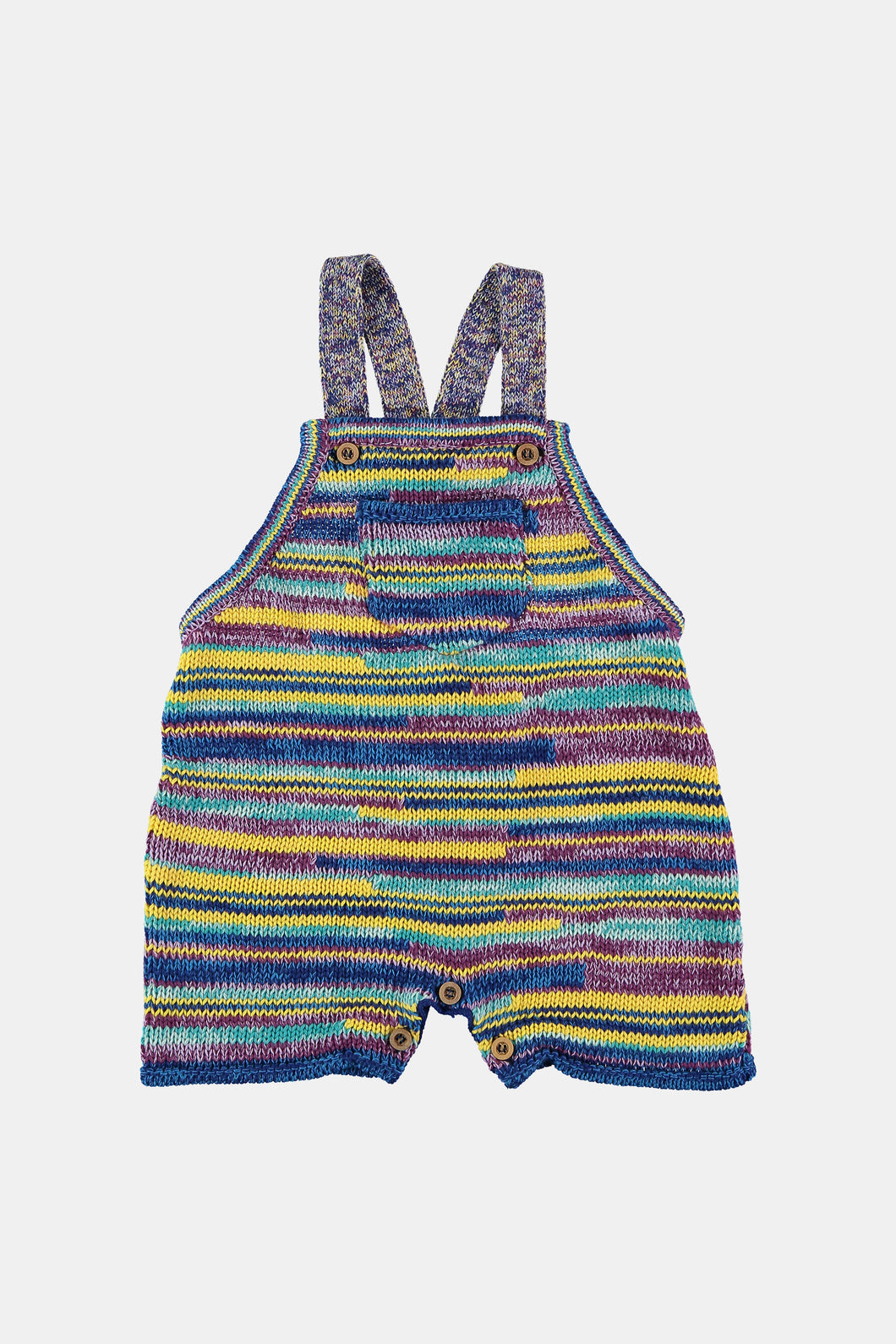 Coco Au Lait All Over Unisex Baby Knit Precious Overall Overall Multicolor Stripes 1