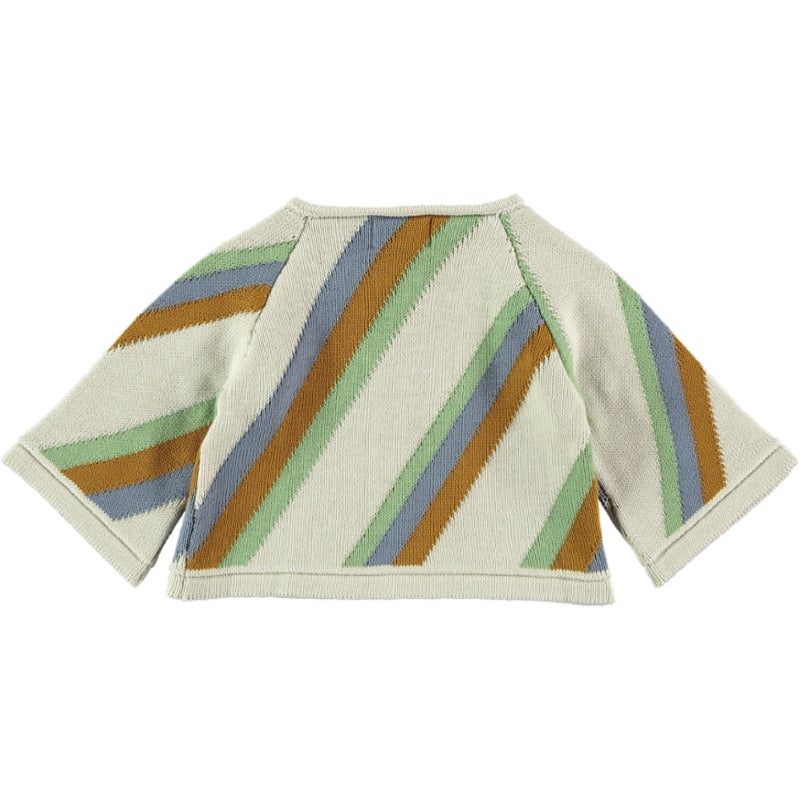 Load image into Gallery viewer, Coco Au Lait BABYKNIT CROPPED STRIPED JACKET Sweater Multicolor Stripes