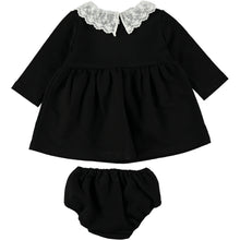 Load image into Gallery viewer, Coco Au Lait BABY BLACK FRENCH TERRY DRESS Dress Caviar