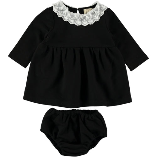 Coco Au Lait BABY BLACK FRENCH TERRY DRESS Dress Caviar
