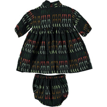 Load image into Gallery viewer, Coco Au Lait BABY BLACK VEGETABLES DRESS Dress Caviar