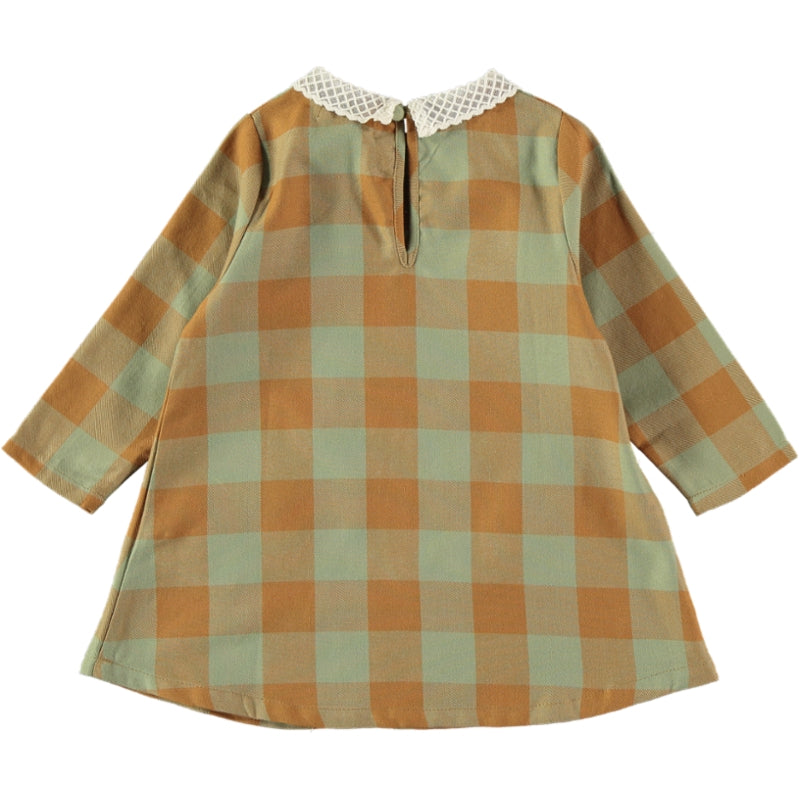 Load image into Gallery viewer, Coco Au Lait BABY CHECKERED DRESS Dress Multicolor Squares