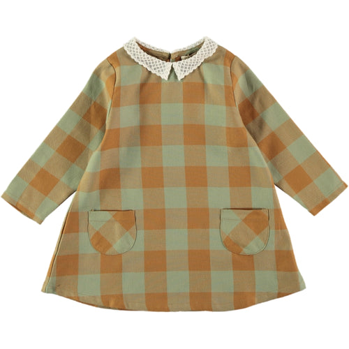 Coco Au Lait BABY CHECKERED DRESS Dress Multicolor Squares