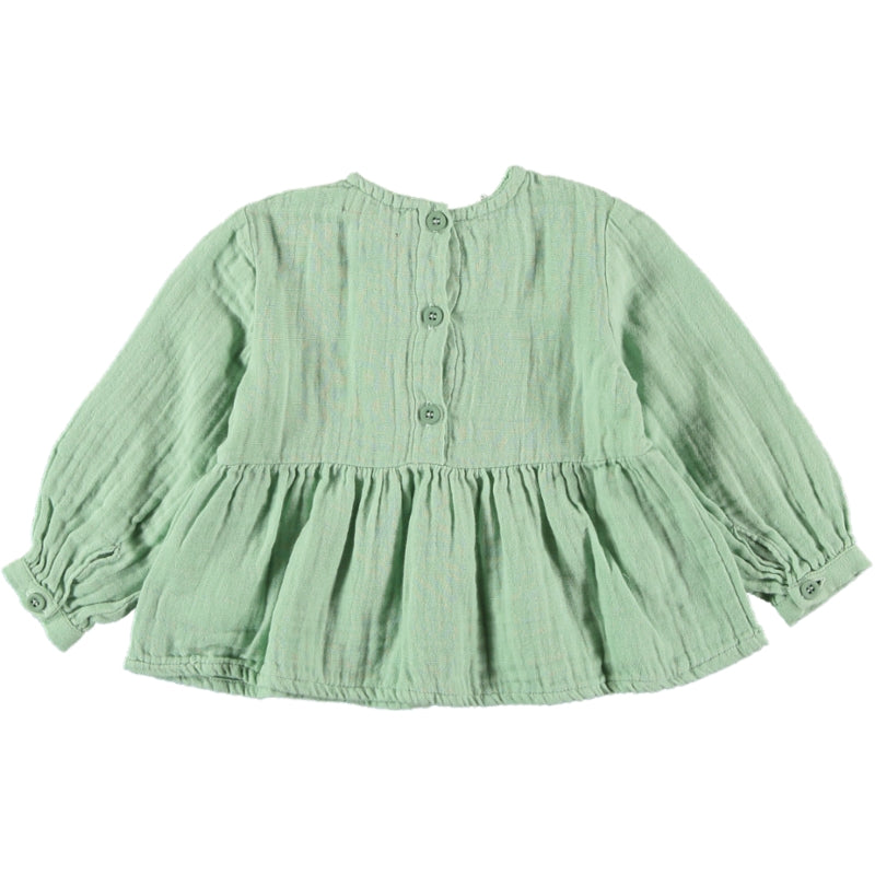 Load image into Gallery viewer, Coco Au Lait BABY GREEN BAMBULA BLOUSE Blouse Granite Green