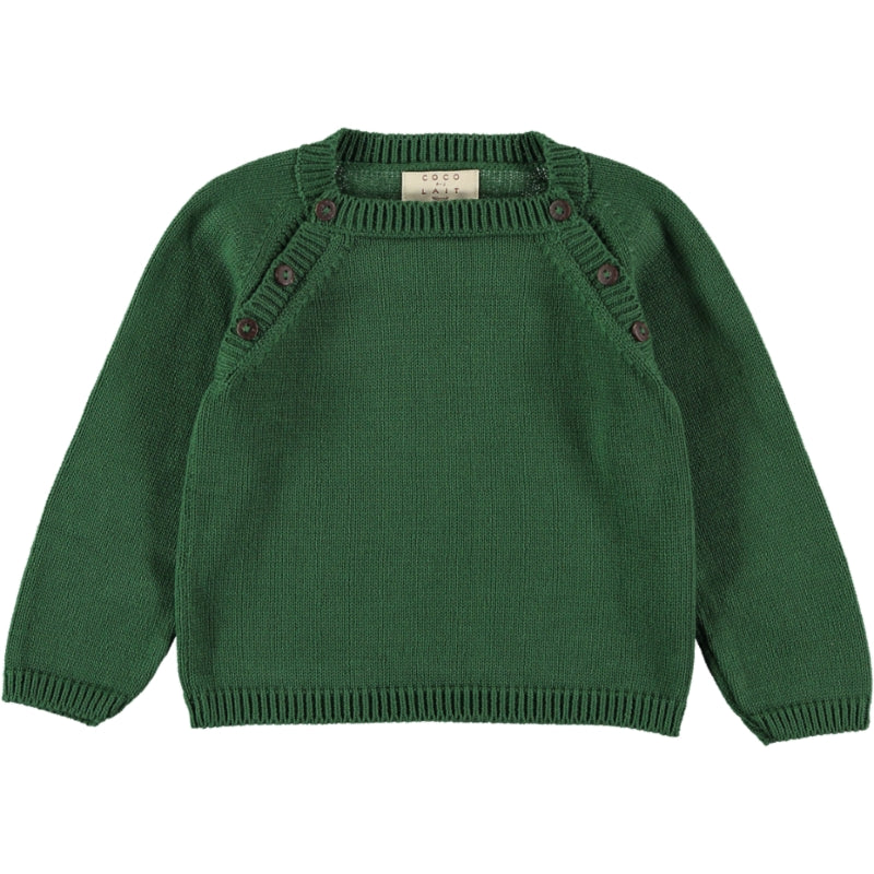 Coco Au Lait BABY GREEN KNIT SWEATER Sweater Greener Pastures