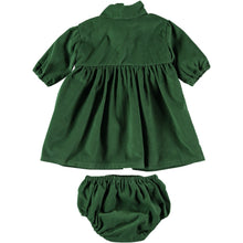 Load image into Gallery viewer, Coco Au Lait BABY GREEN VELVETEEN  DRESS Dress Greener Pastures