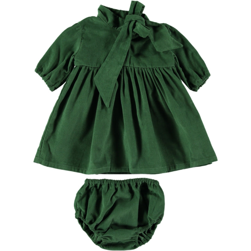 Coco Au Lait BABY GREEN VELVETEEN  DRESS Dress Greener Pastures