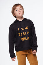 Load image into Gallery viewer, Coco Au Lait BABY I PLAN TO STAY WILD SWEATSHIRT Sweatshirt Caviar