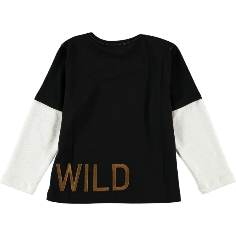 Load image into Gallery viewer, Coco Au Lait BABY I PLAN TO STAY WILD T-SHIRT T-Shirt Caviar
