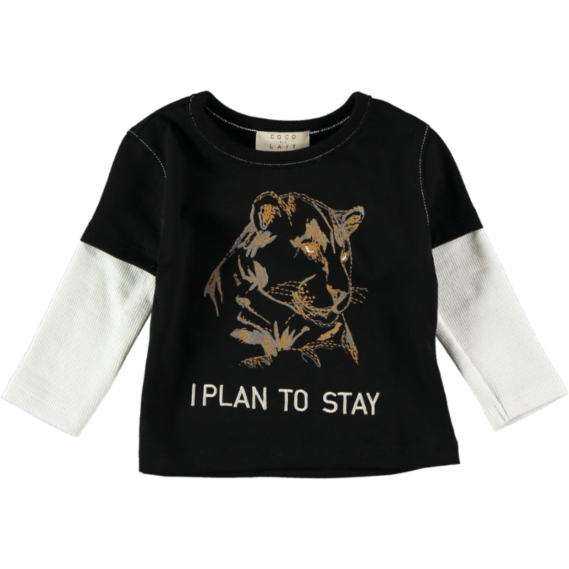 Coco Au Lait BABY I PLAN TO STAY WILD T-SHIRT T-Shirt Caviar