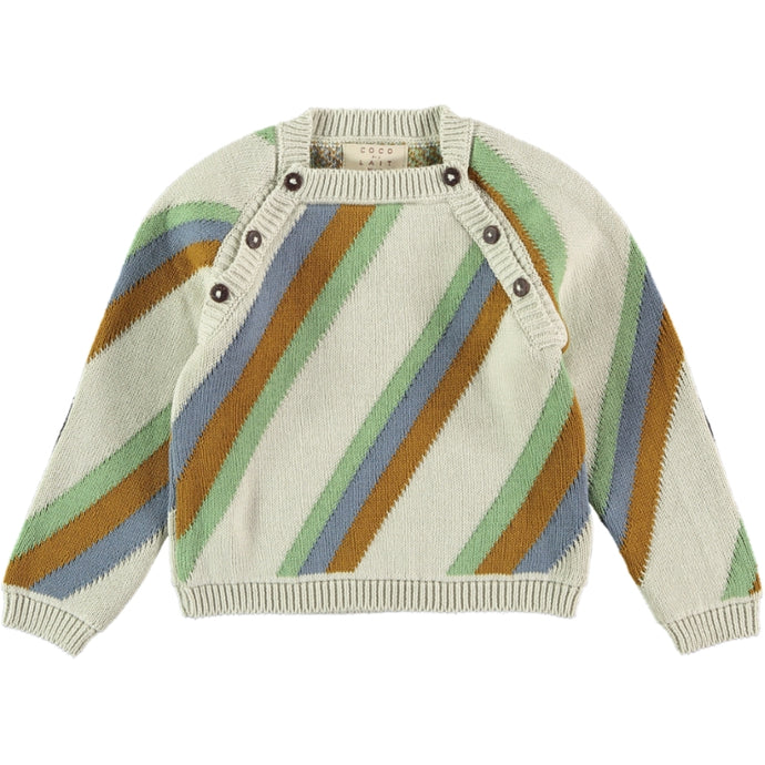 Coco Au Lait BABY KNITTED STRIPED SWEATER Sweater Multicolor Stripes