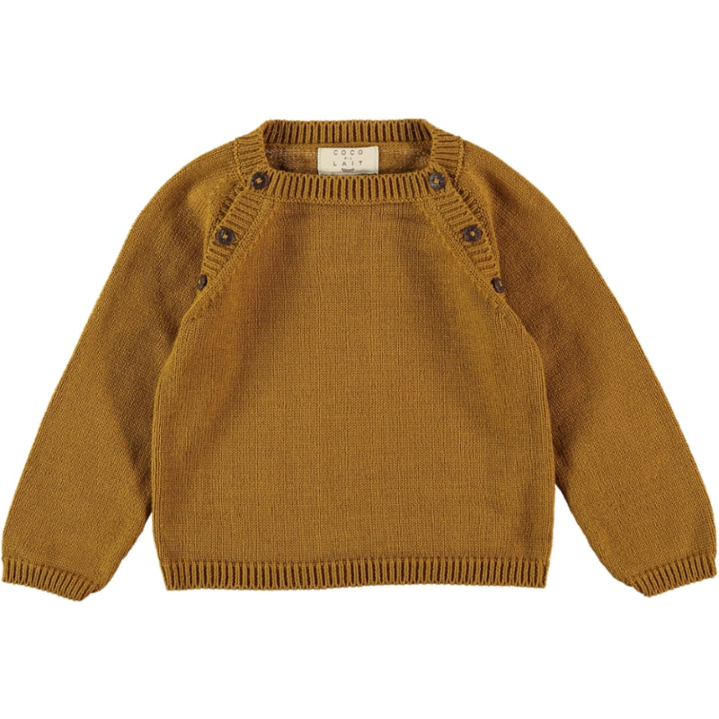 Coco Au Lait BABY MUSTARD KNIT SWEATER Sweater Golden Brown