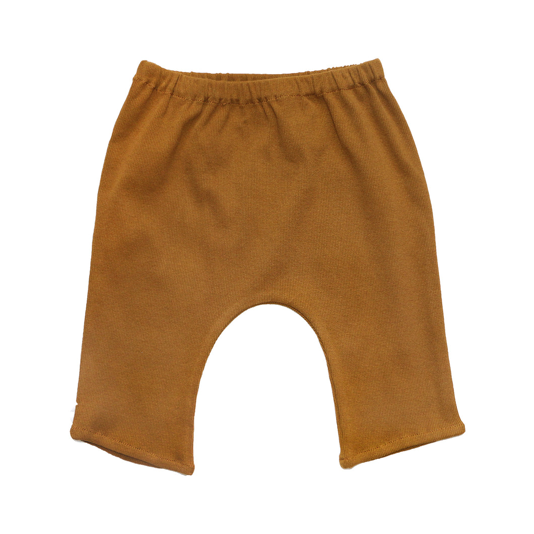 Coco Au Lait BABY MUSTARD SAROUEL TROUSERS Trousers Golden Brown