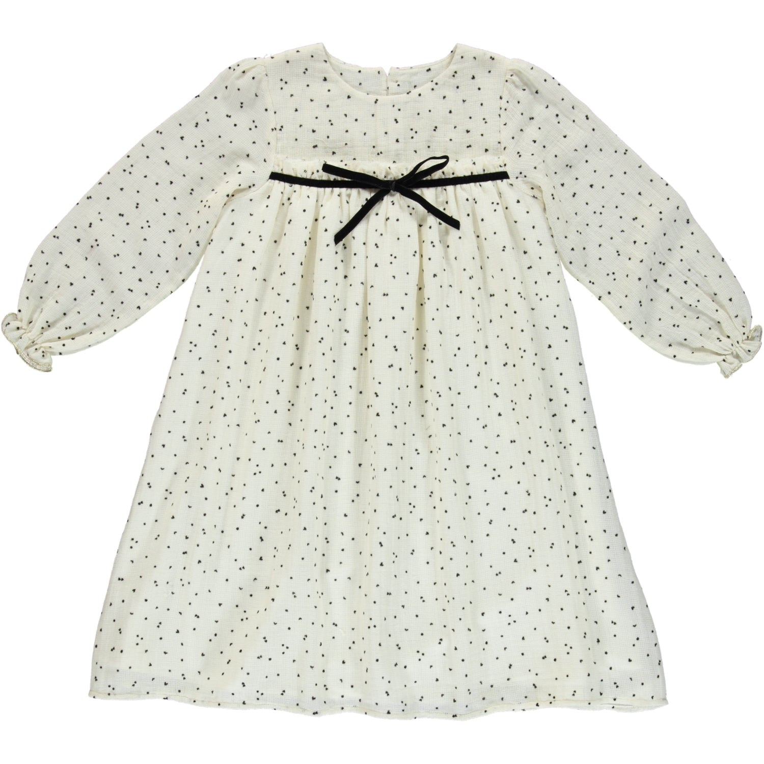 Load image into Gallery viewer, Coco Au Lait BABY DOTS DRESS Dress Antique White
