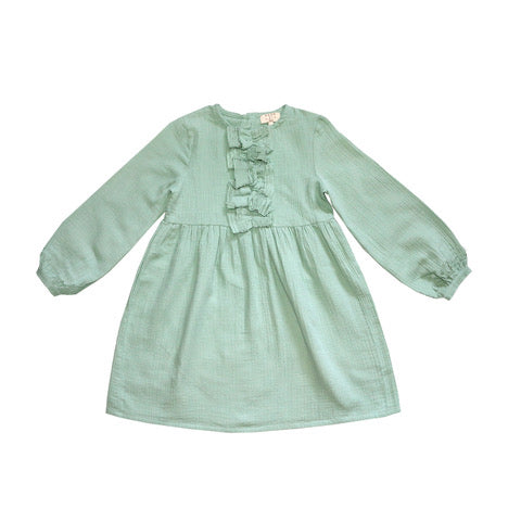 Coco Au Lait BABY GREEN BAMBULA DRESS Dress Granite Green