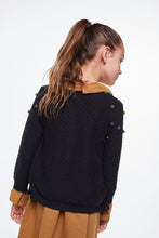 Load image into Gallery viewer, Coco Au Lait BALCK FANTASY CARDIGAN Sweater Caviar