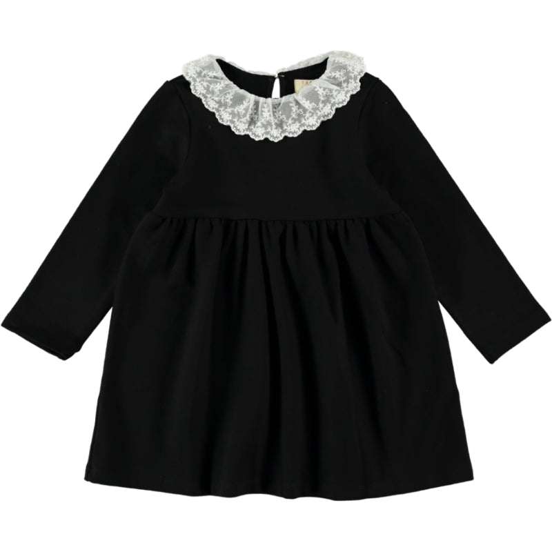 Coco Au Lait BLACK FRENCH TERRY DRESS Dress Caviar