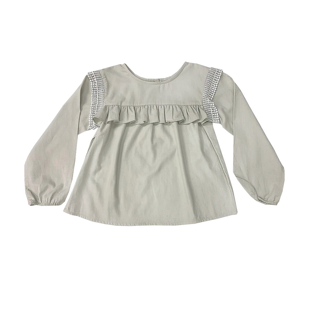 Coco Au Lait BLOUSE WITH FLOUNCES Blouse Antique White